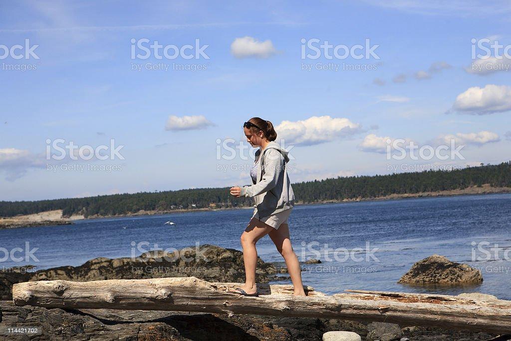 exploring the coast line stock photo