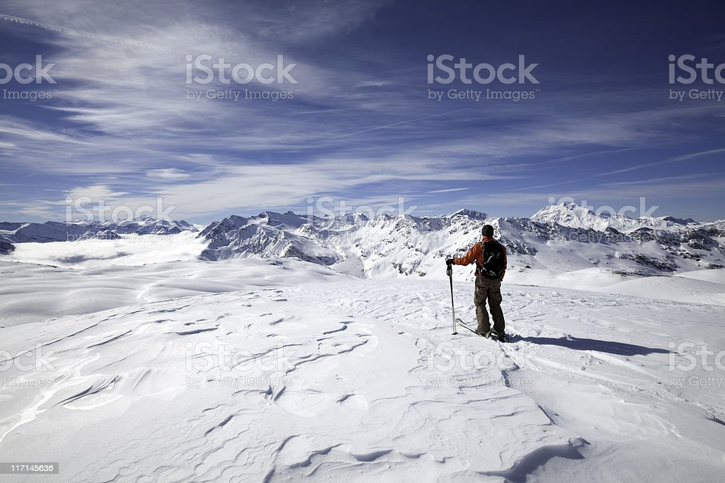 Exploring the high European Alps royalty-free stock photo