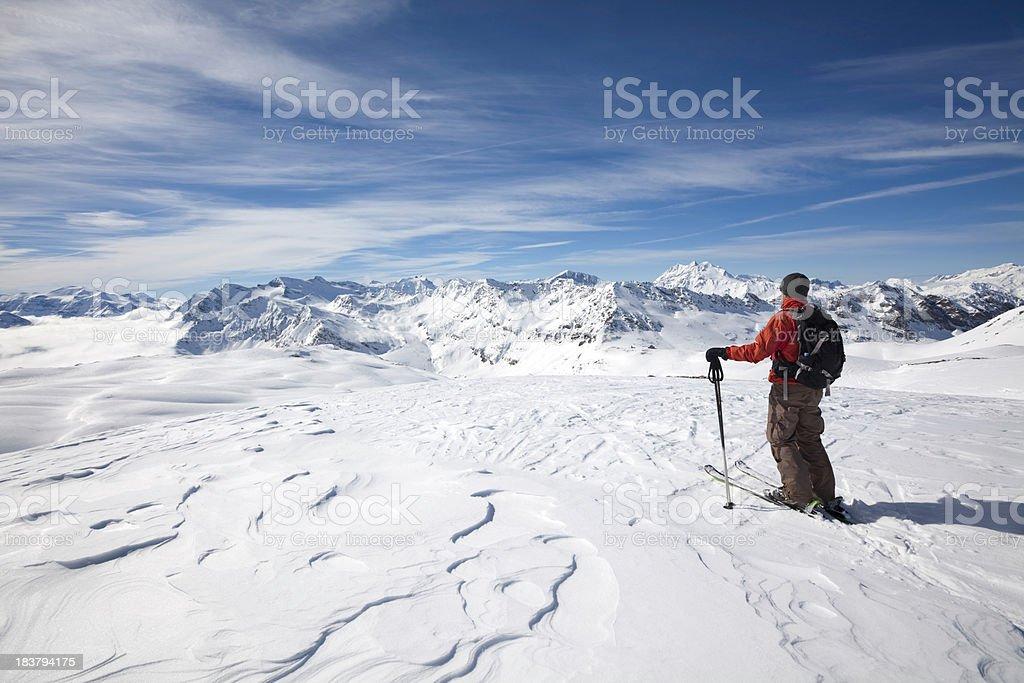 Exploring the high European Alps royalty-free stock photo