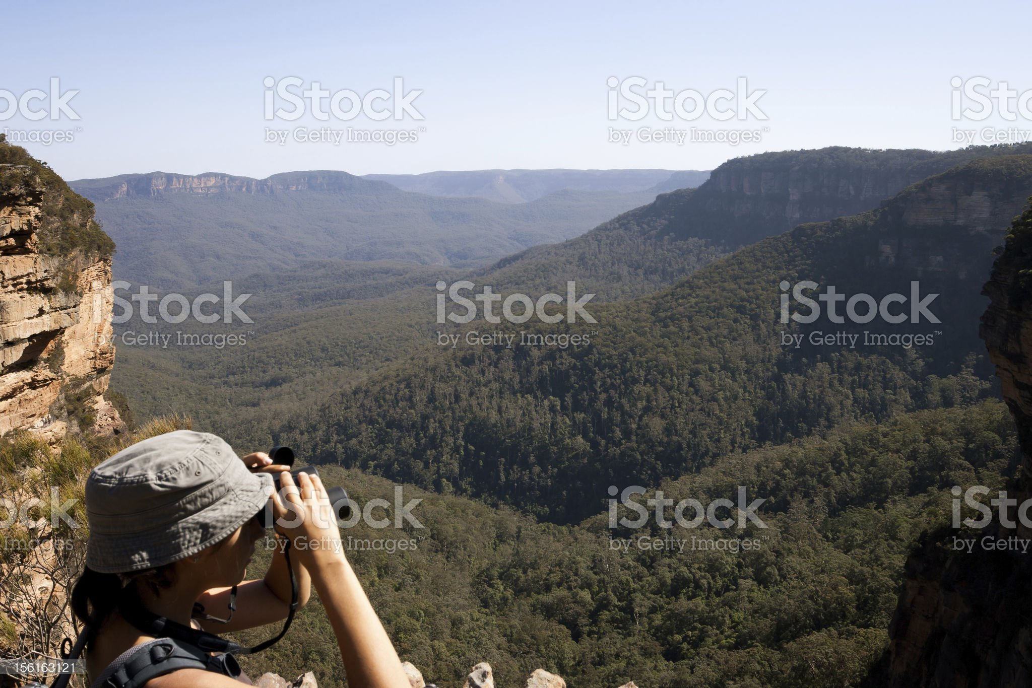 Exploring the Nature in Blue Mountains National Park royalty-free stock photo