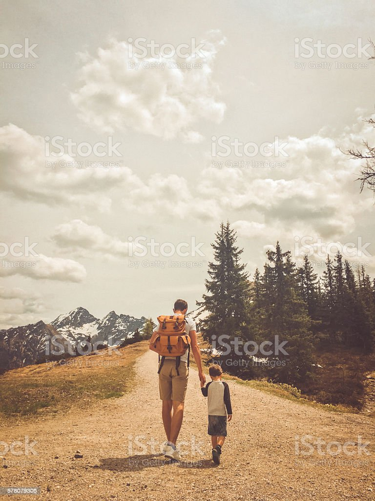 Exploring the nature together stock photo