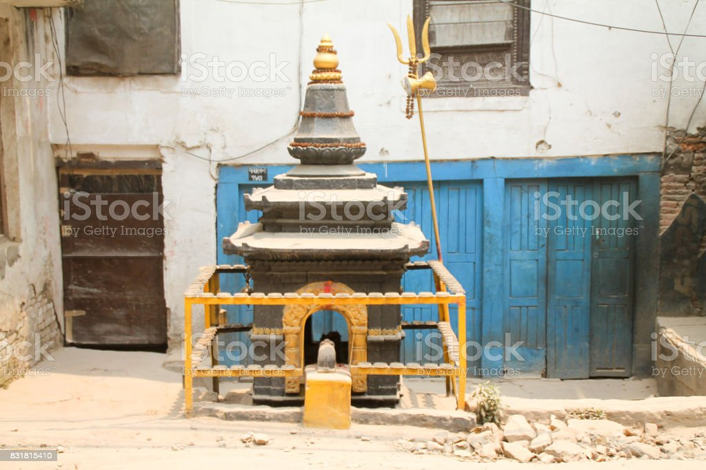 Exploring the streets post earthquake in Kathmandu Nepal 2016 stock photo