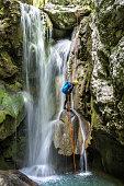 Exploring the waterfall