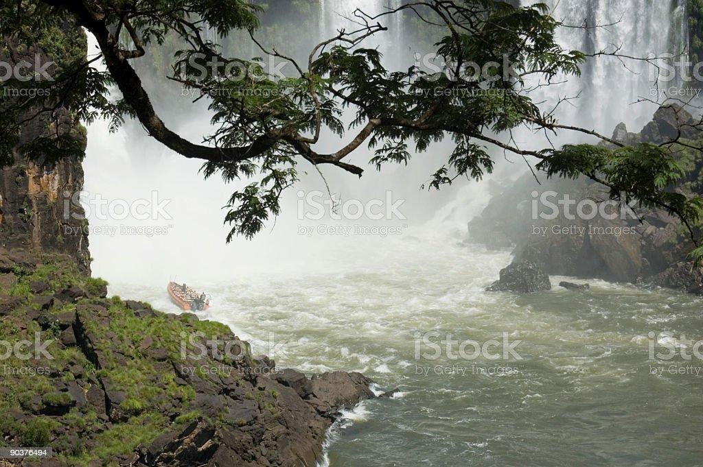 Exploring the Waterfalls stock photo