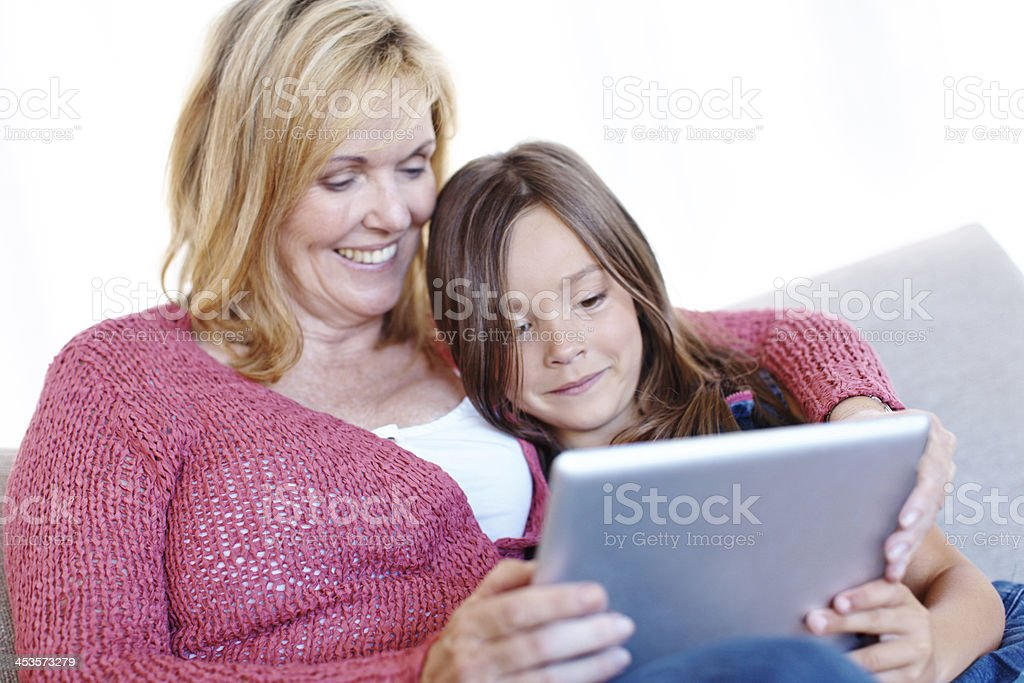 Exploring the web together royalty-free stock photo