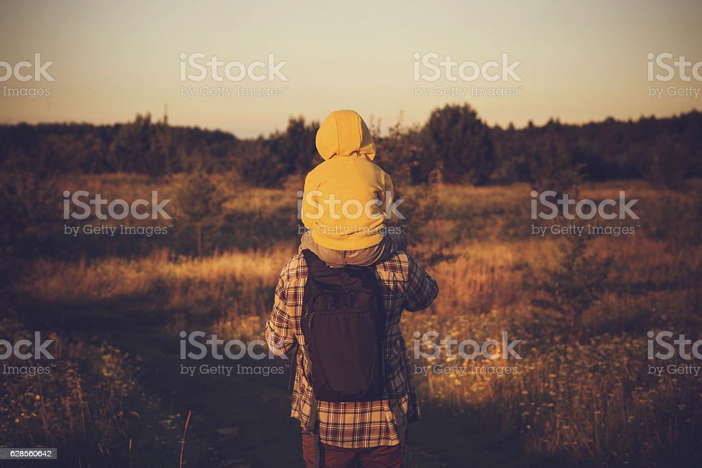 Exploring together stock photo