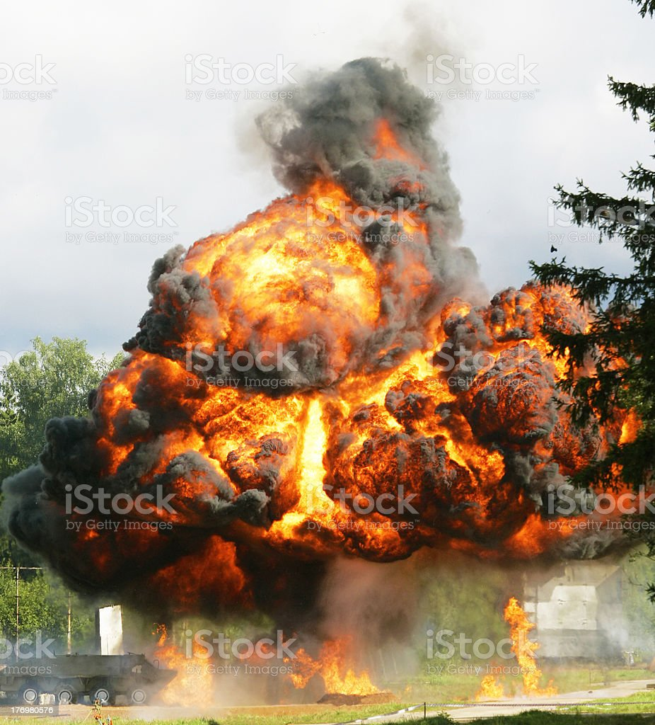 Explosion a flame royalty-free stock photo
