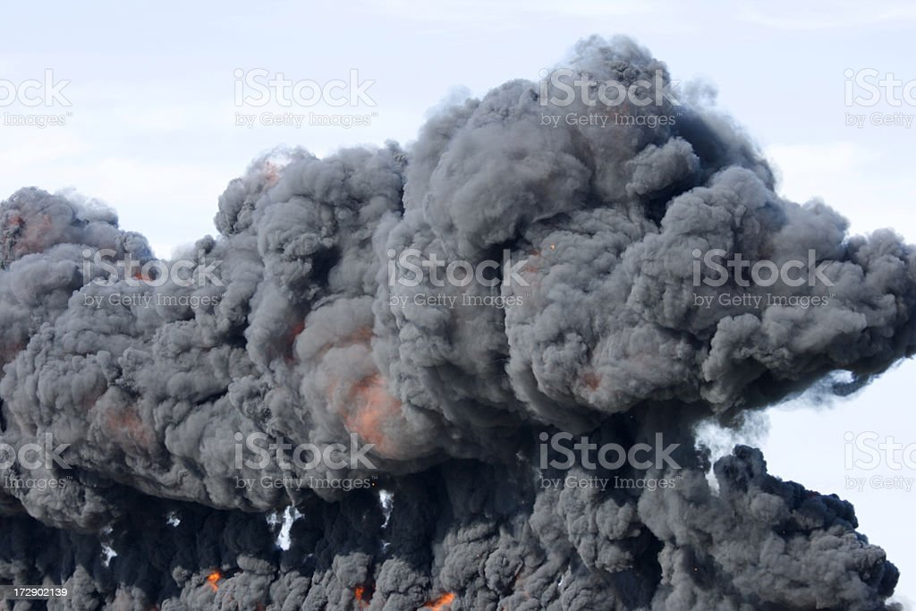 Explosion and Fireball royalty-free stock photo