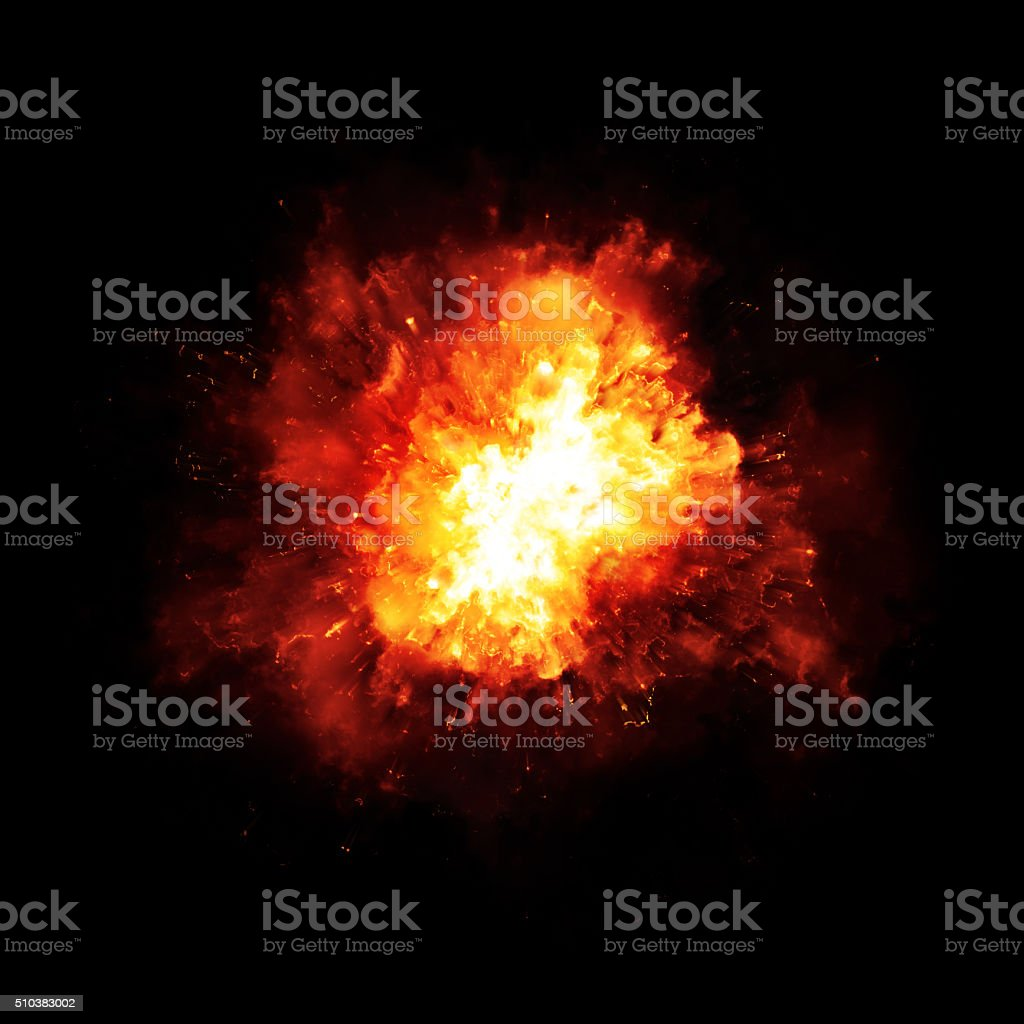 explosion fire stock photo