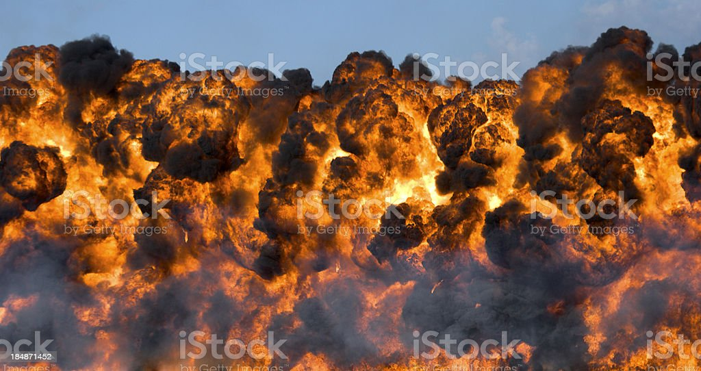 Explosion: Fireball and Smoke stock photo