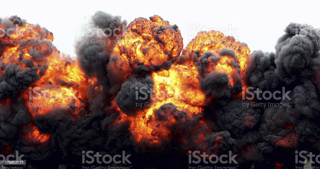 Explosion Fireball. stock photo