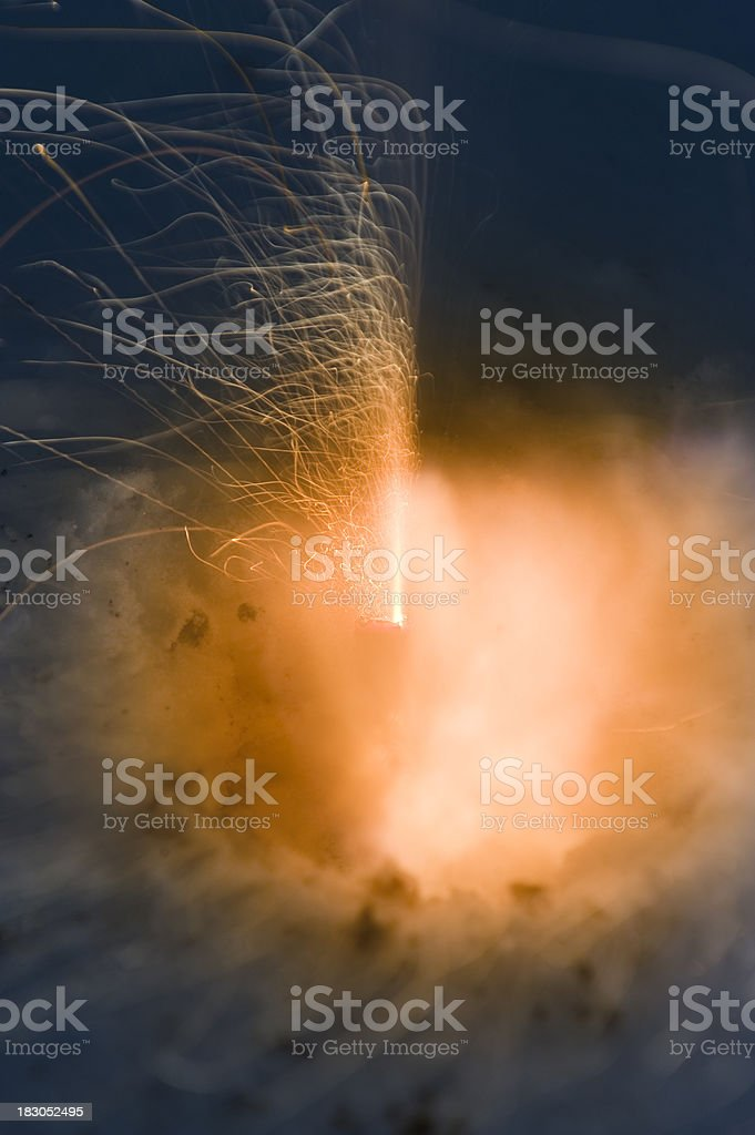 Explosion of a firecracker royalty-free stock photo