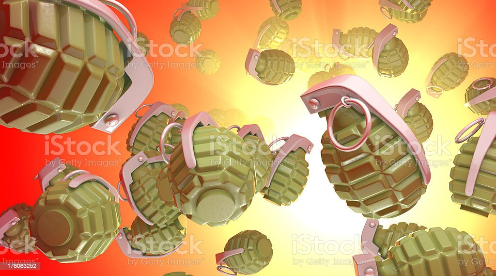 Explosion of a hand grenade stock photo