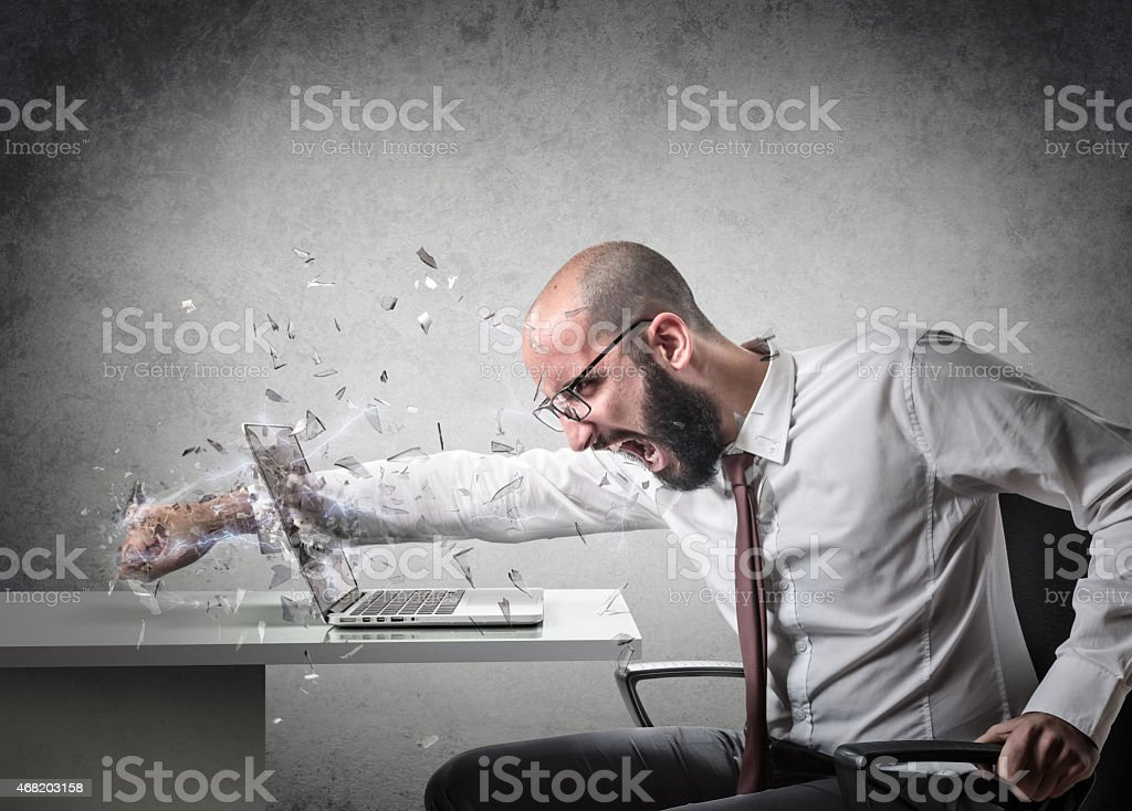 explosion of anger stock photo