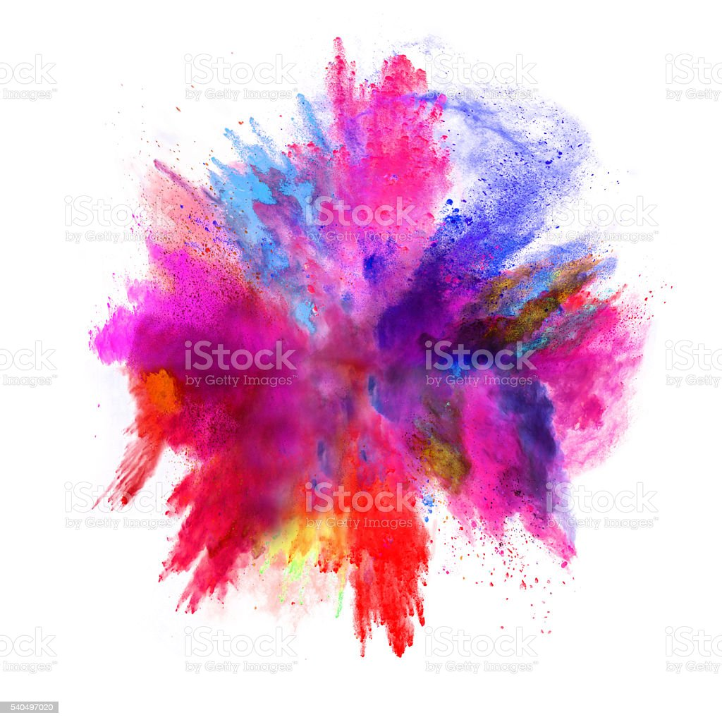Paint Explosion White Background No Watermark