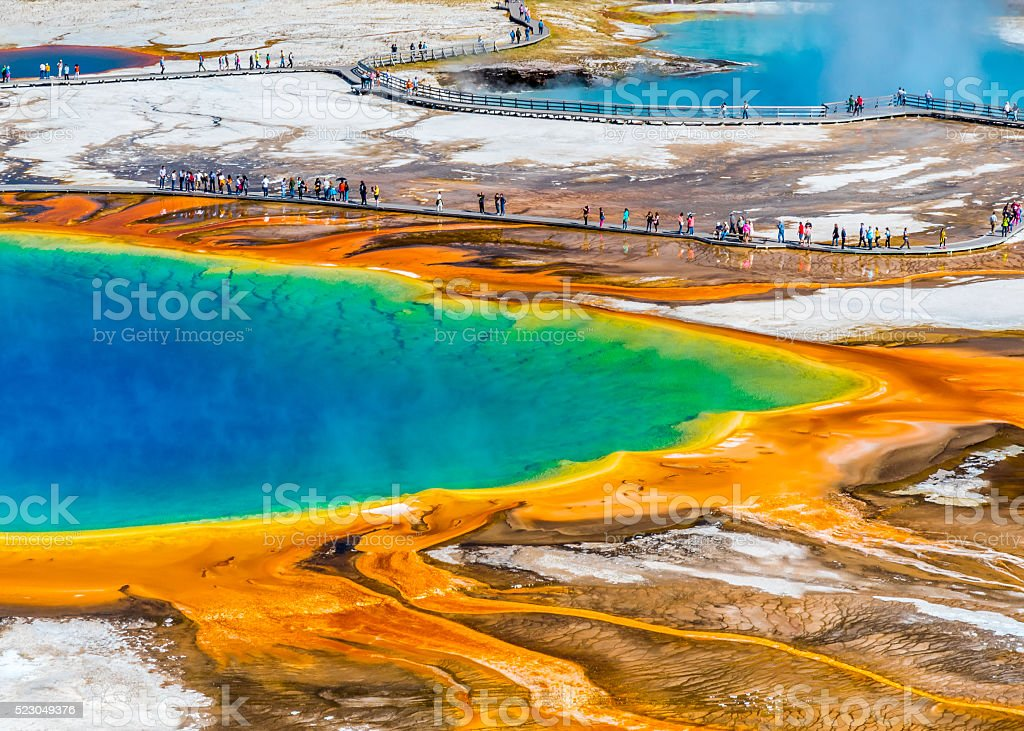 Explosion of colours in Yellowstone stock photo