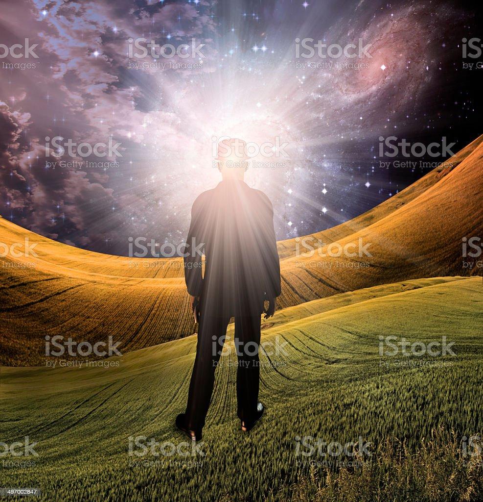 Explosion of imagination stock photo