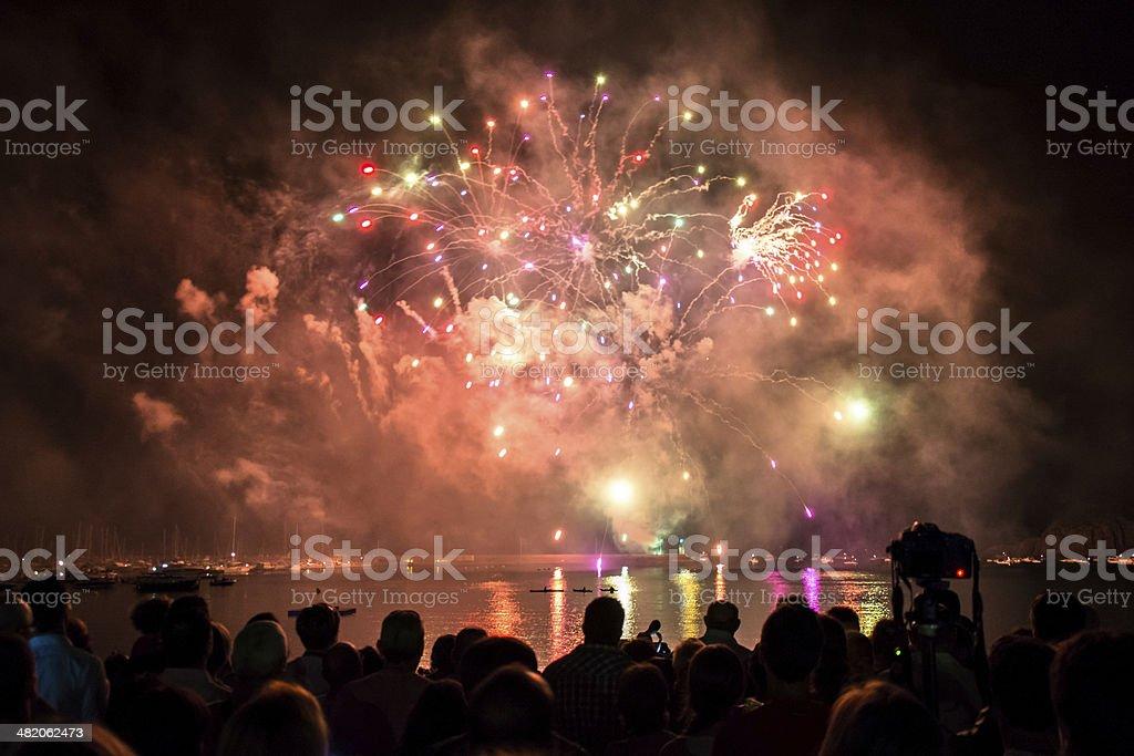 explosion of light stock photo