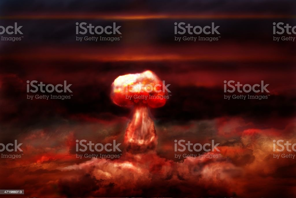 explosion of nuclear bomb royalty-free stock photo