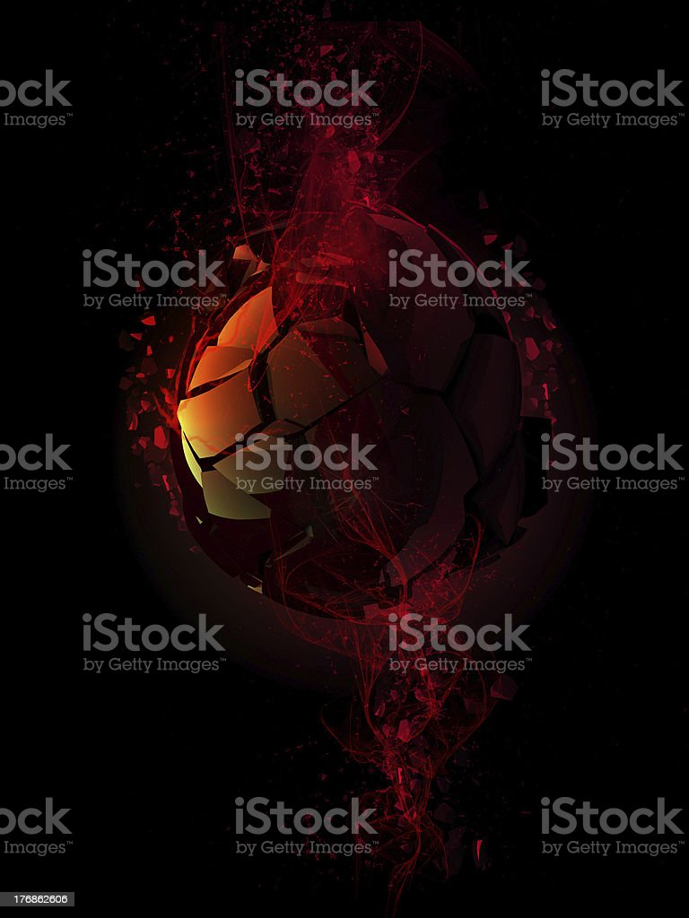 Explosion of Sphere royalty-free stock photo