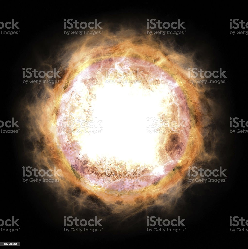 Explosion on a star royalty-free stock photo