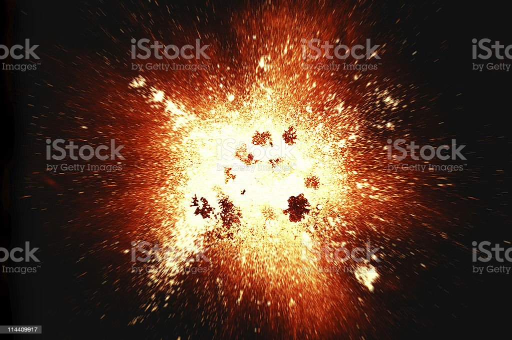 Explosion (superhires) royalty-free stock photo