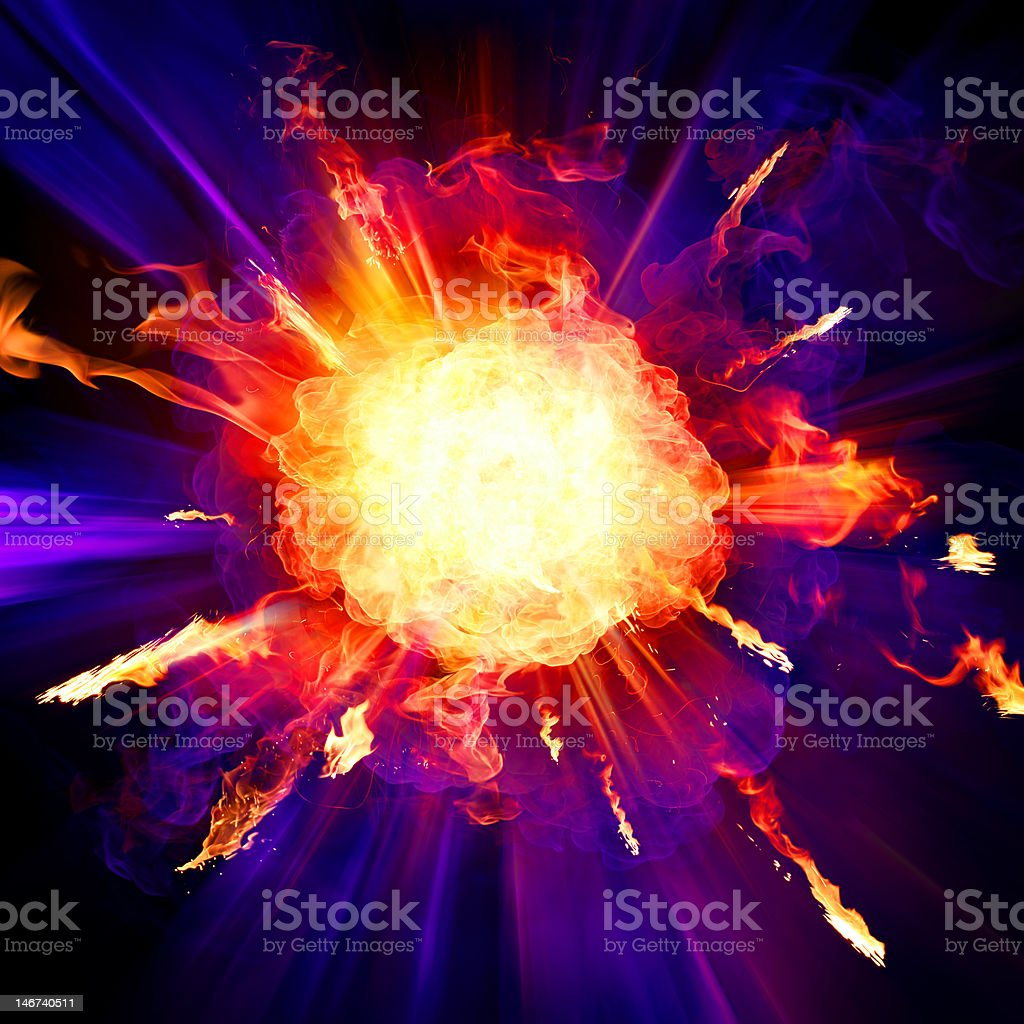 Explosion royalty-free stock photo