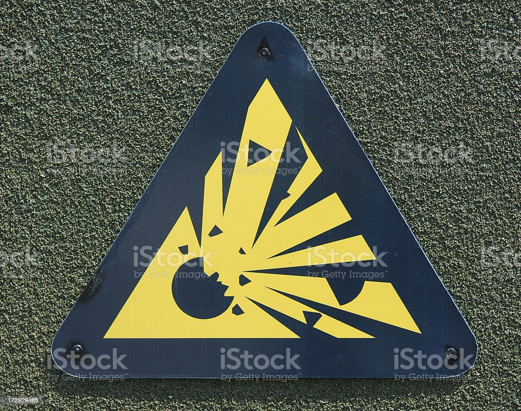 Explosion sign royalty-free stock photo