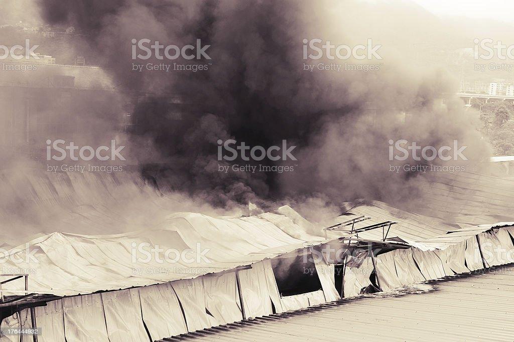 Explosion Smoke royalty-free stock photo