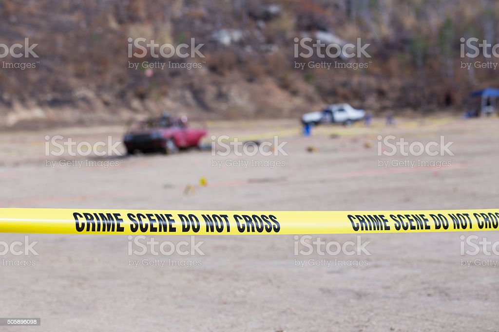 explosion  vehicle  crime scene stock photo