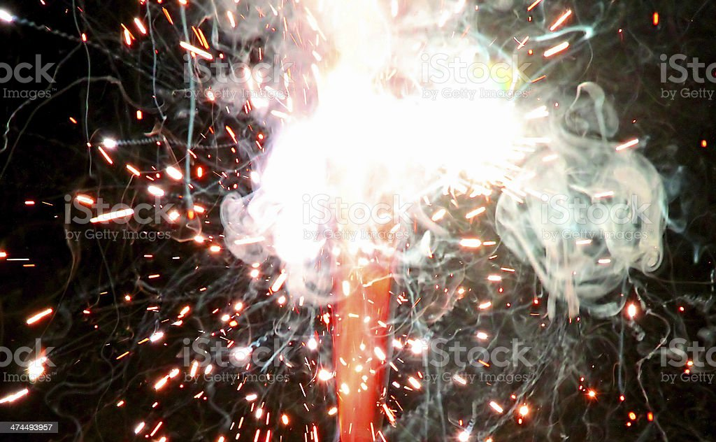 explosion with fire stock photo