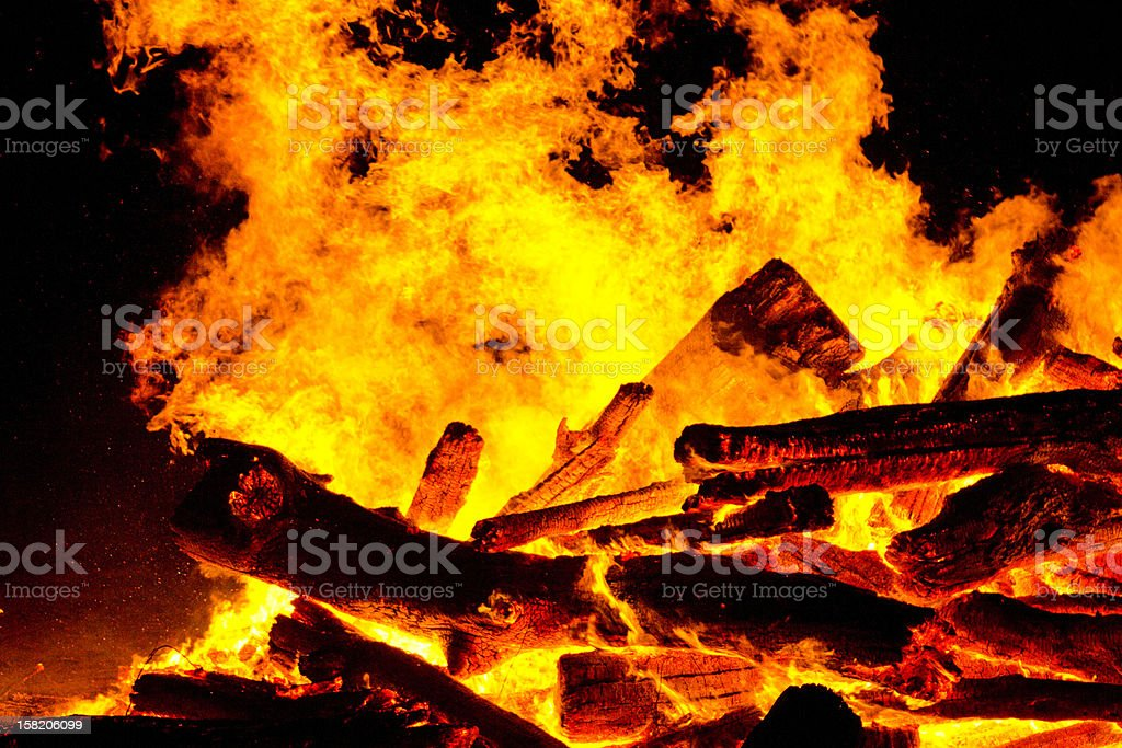 Explosion with flame of fire royalty-free stock photo