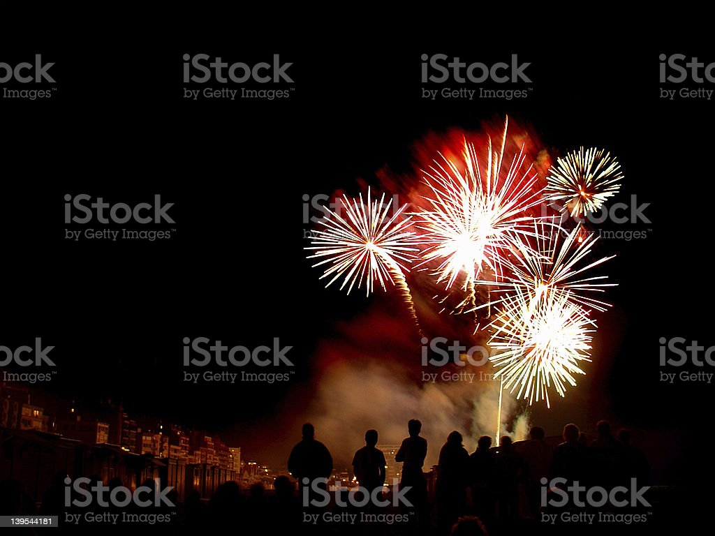 Explosive Fireworks 03 royalty-free stock photo