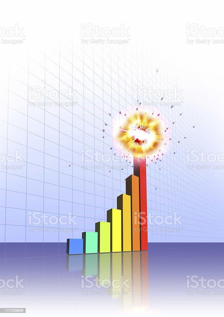 Explosive Growth! stock photo