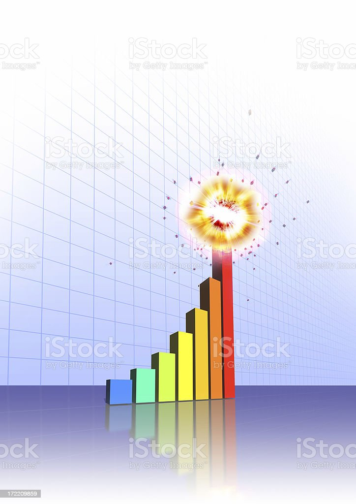 Explosive Growth! stock photo