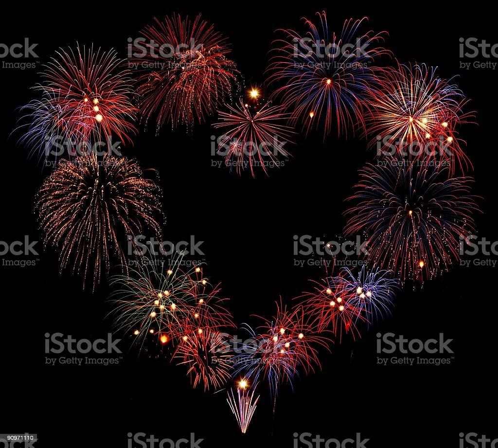 Explosive love royalty-free stock photo