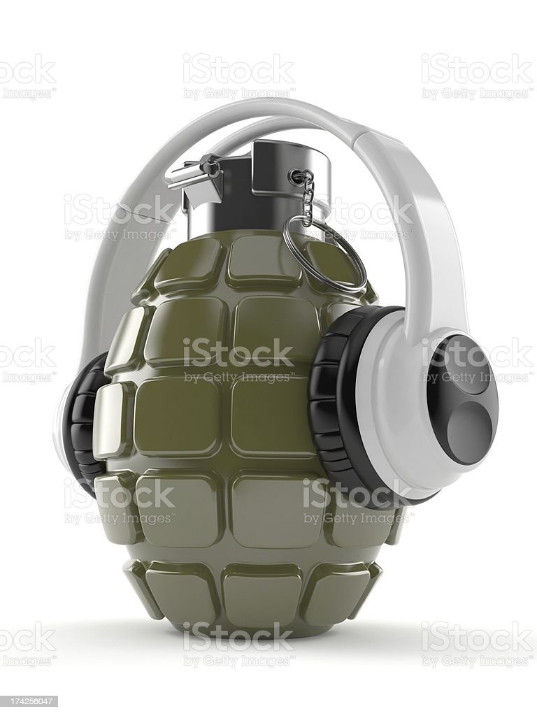 Explosive music royalty-free stock photo