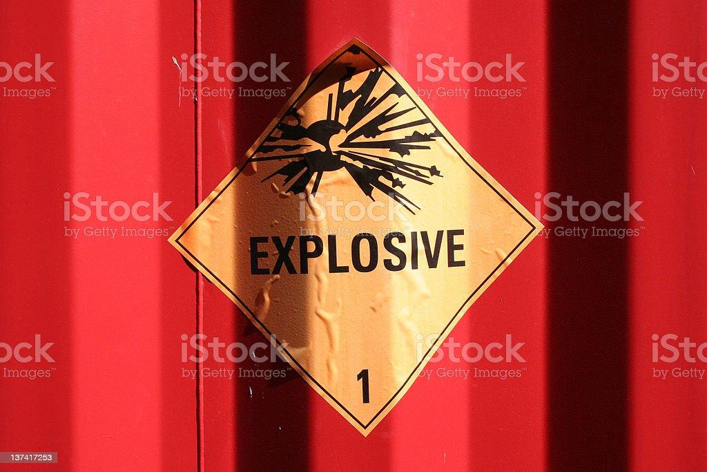 Explosive royalty-free stock photo
