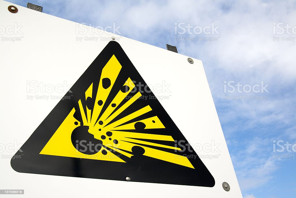 Explosive sign royalty-free stock photo