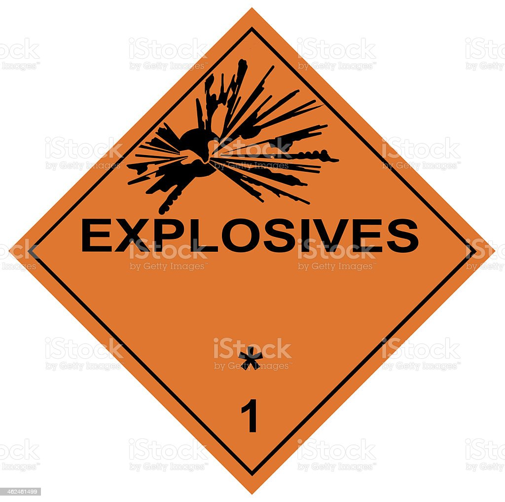 Explosives Diamond Label stock photo