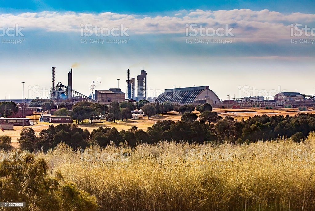 Explosives factory for the mining industry stock photo