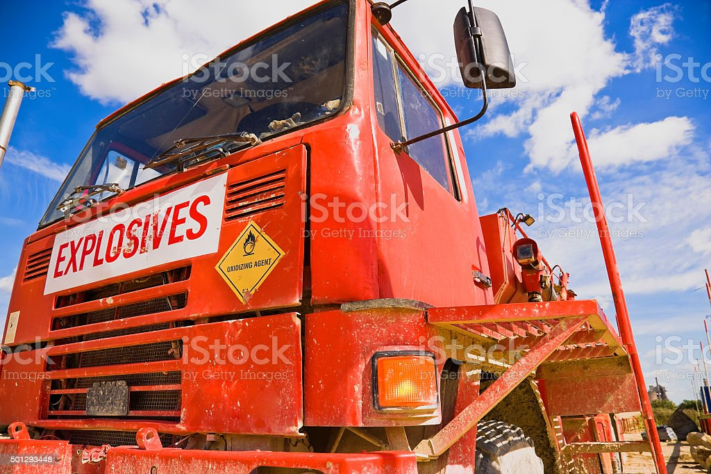 Explosives Truck royalty-free stock photo