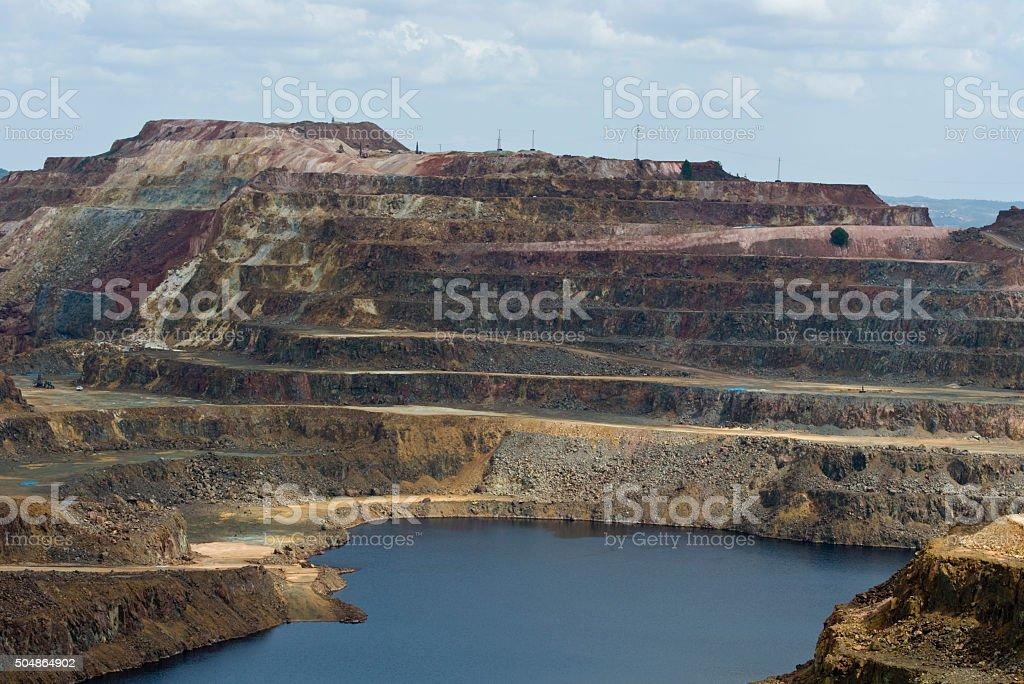 Explotacion minera de Cerro Colorado en Riotinto, Huelva stock photo