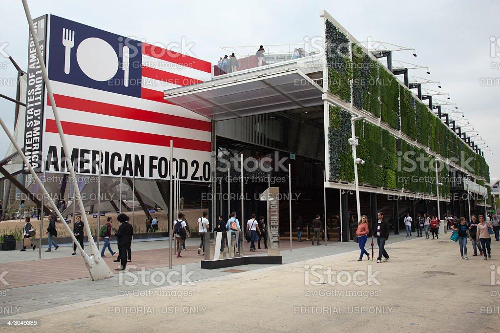 Expo 2015. USA pavilion stock photo