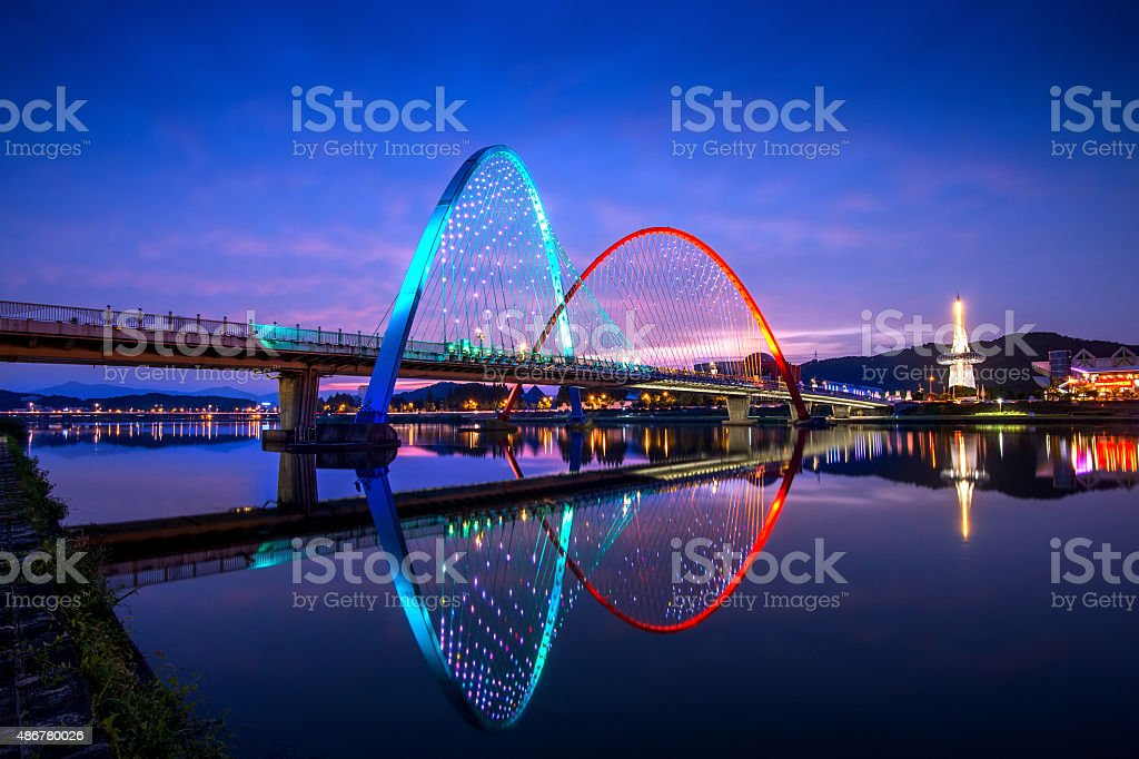 Expo Bridge in Daejeon, South Korea. stock photo