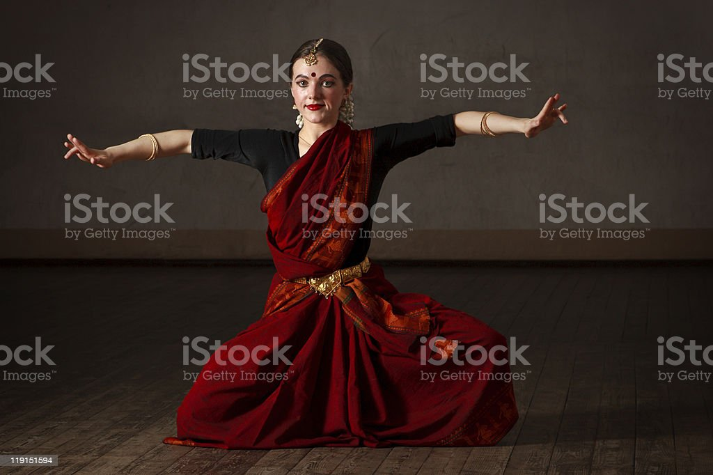 Exponent of  Bharat Natyam dance royalty-free stock photo