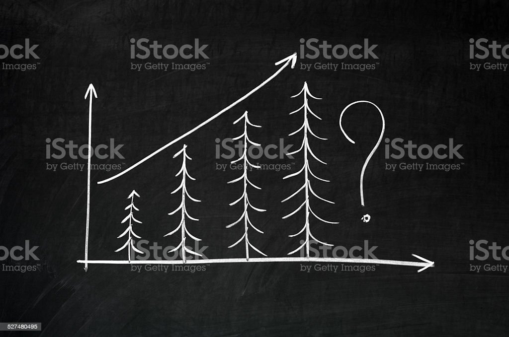 Exponential growth chart stock photo