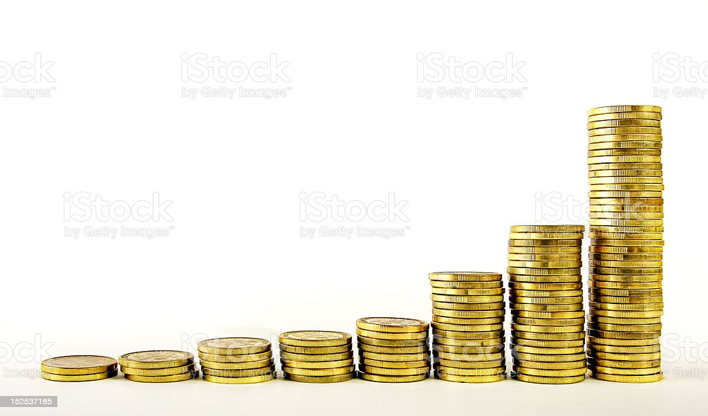 Exponential growth of gold royalty-free stock photo