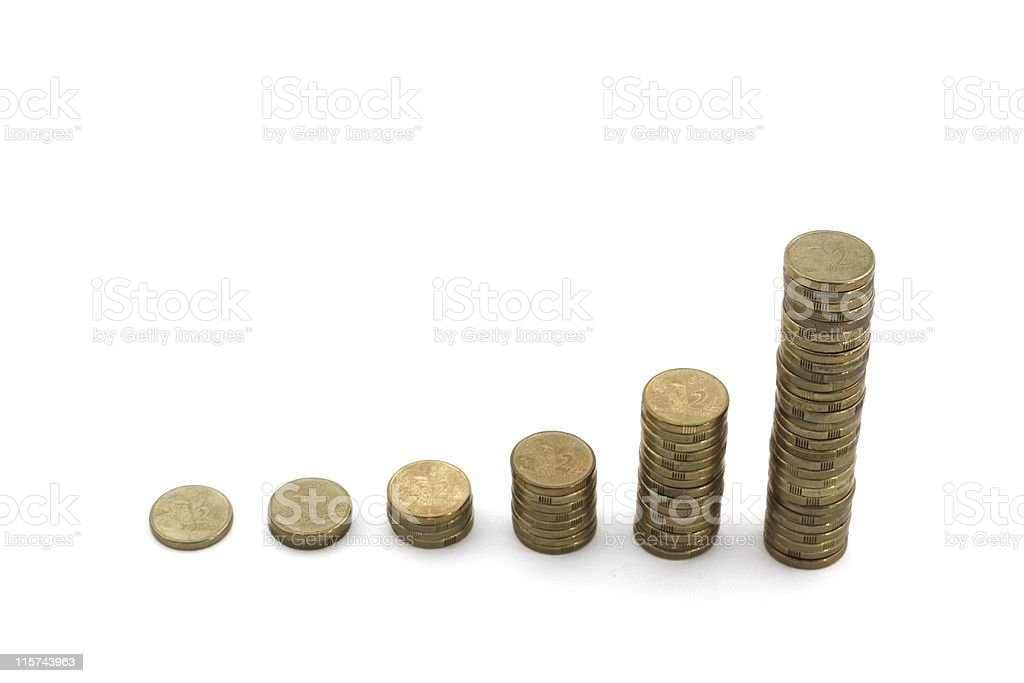 Exponential profits royalty-free stock photo