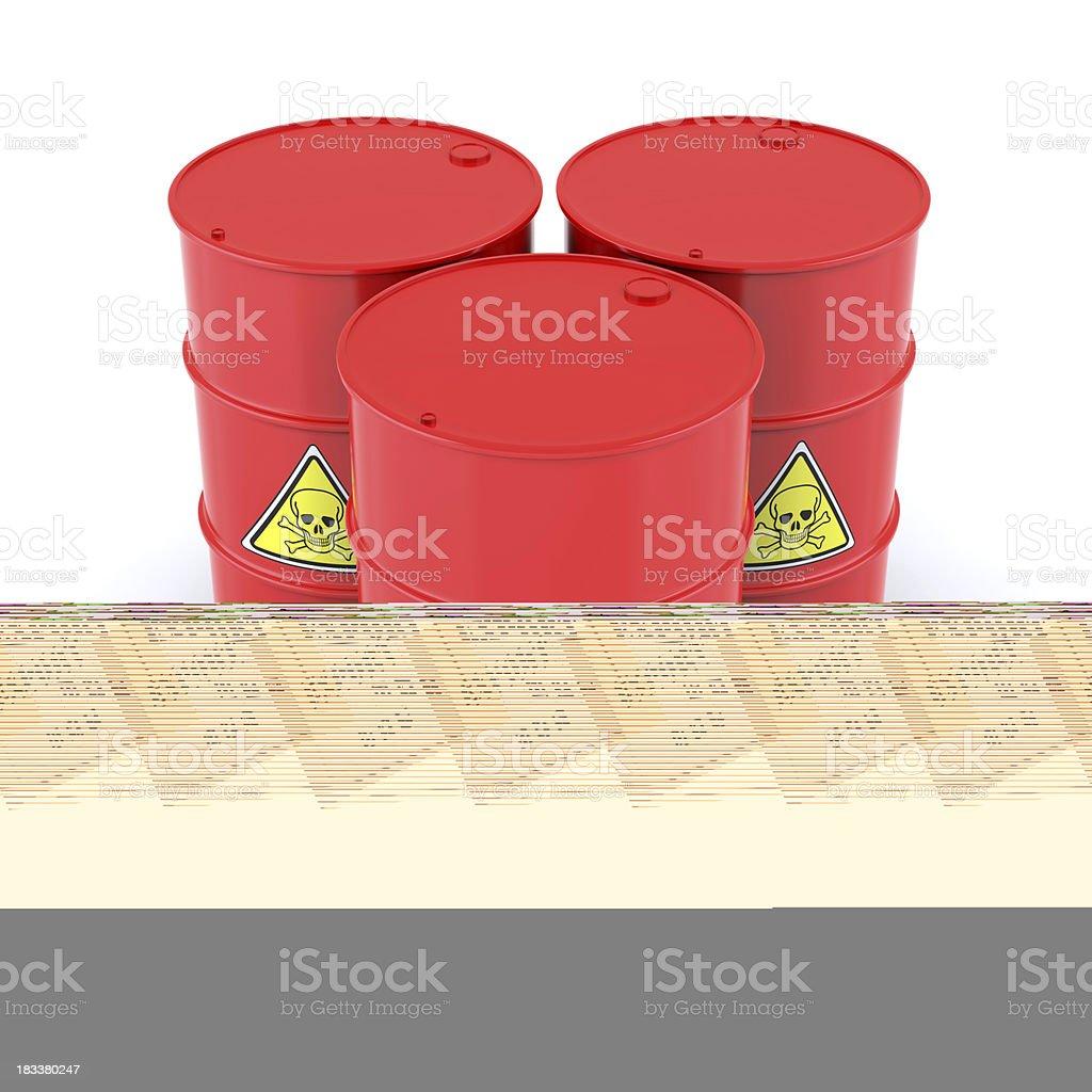 Export Box and Parachute royalty-free stock photo